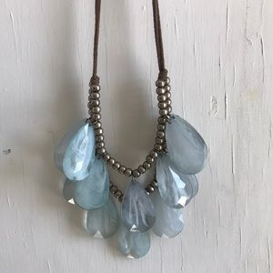 Anthro teardrop necklace
